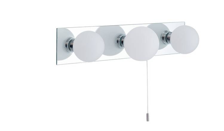 Argos Home Yuko 3 Light Mirror Bar - Chrome