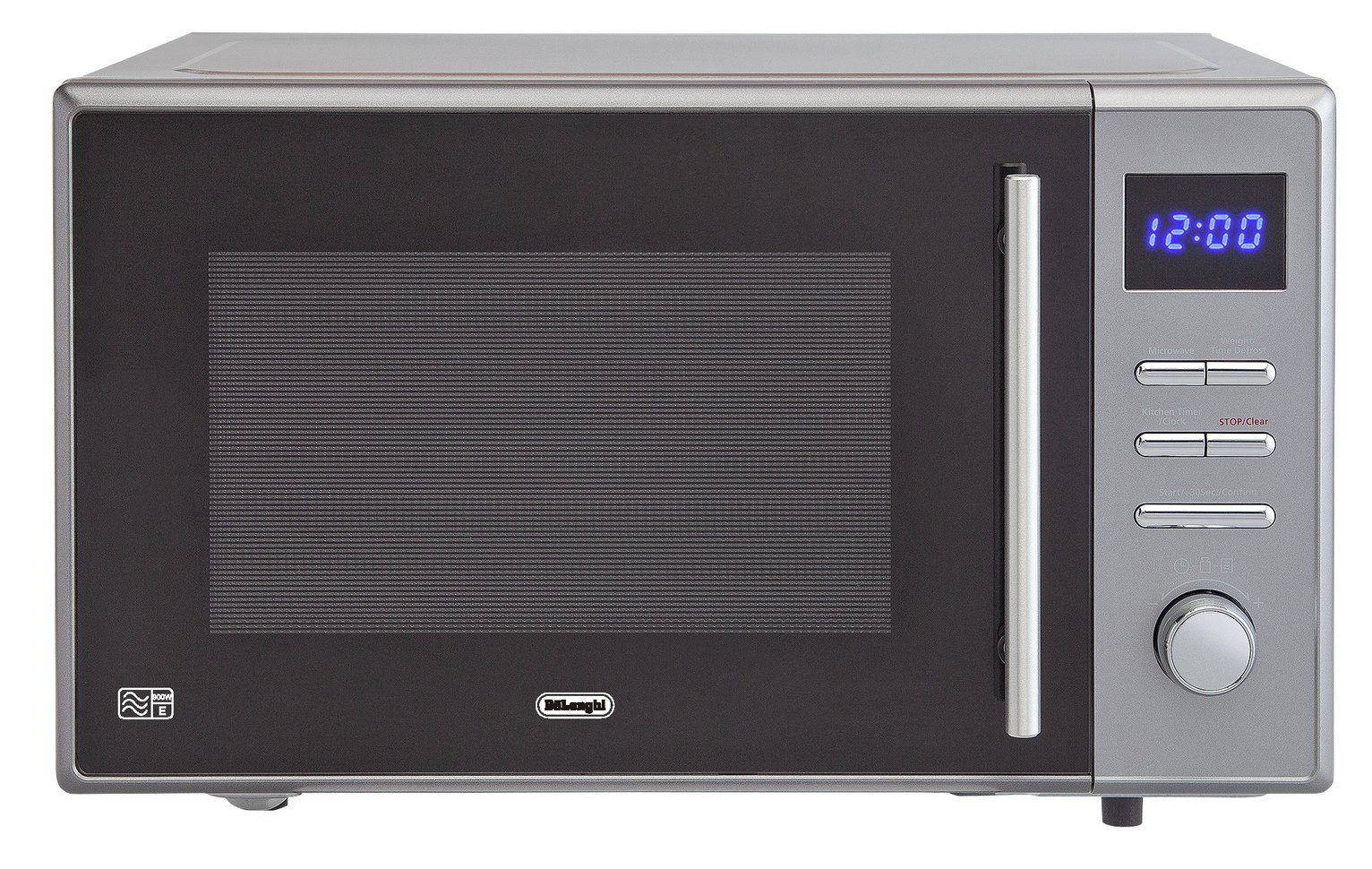 De'Longhi 900W Standard Microwave AC925 - Grey