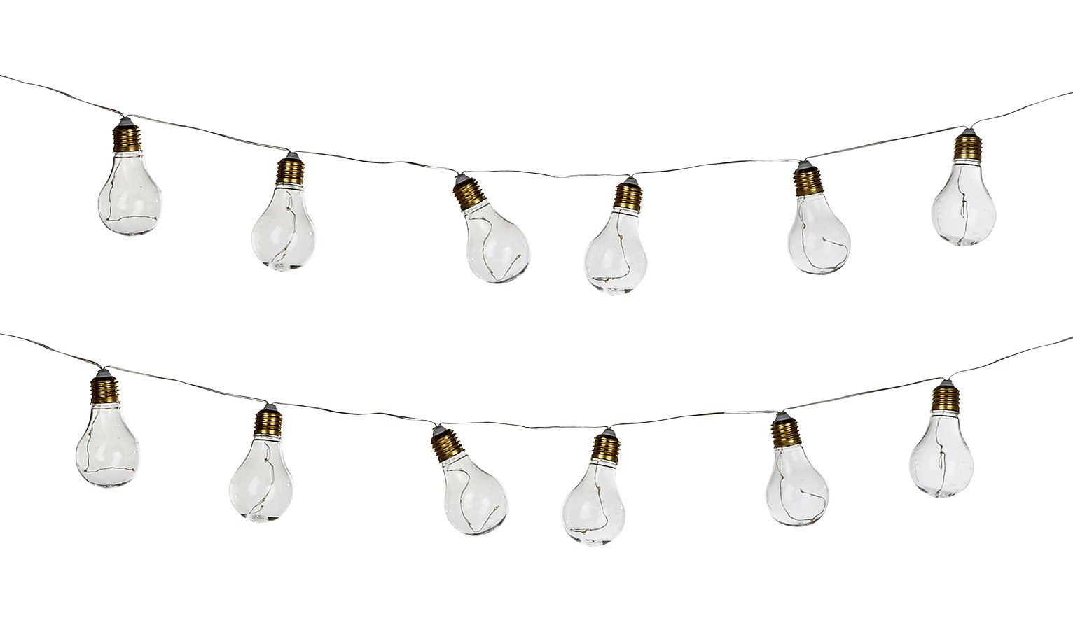 Light Bulb Battery Operated String Lights