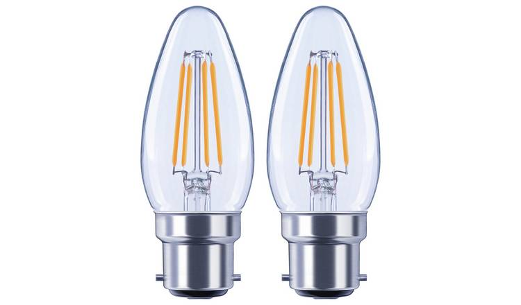 Argos Home 4W LED BC Candle Light Bulb - 2 Pack