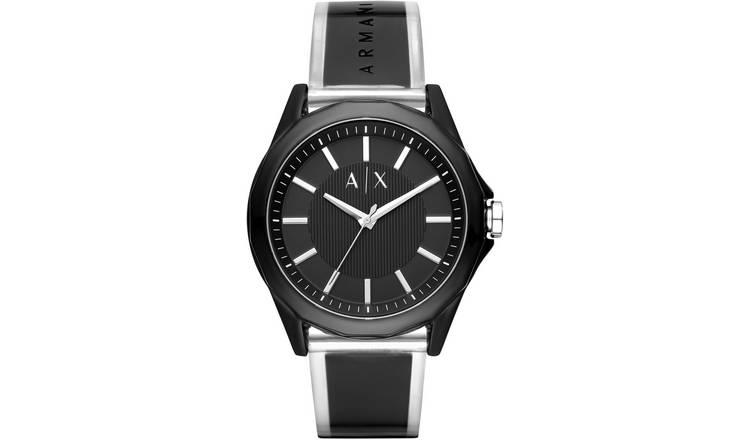 Armani Exchange Men's Black Strap Watch