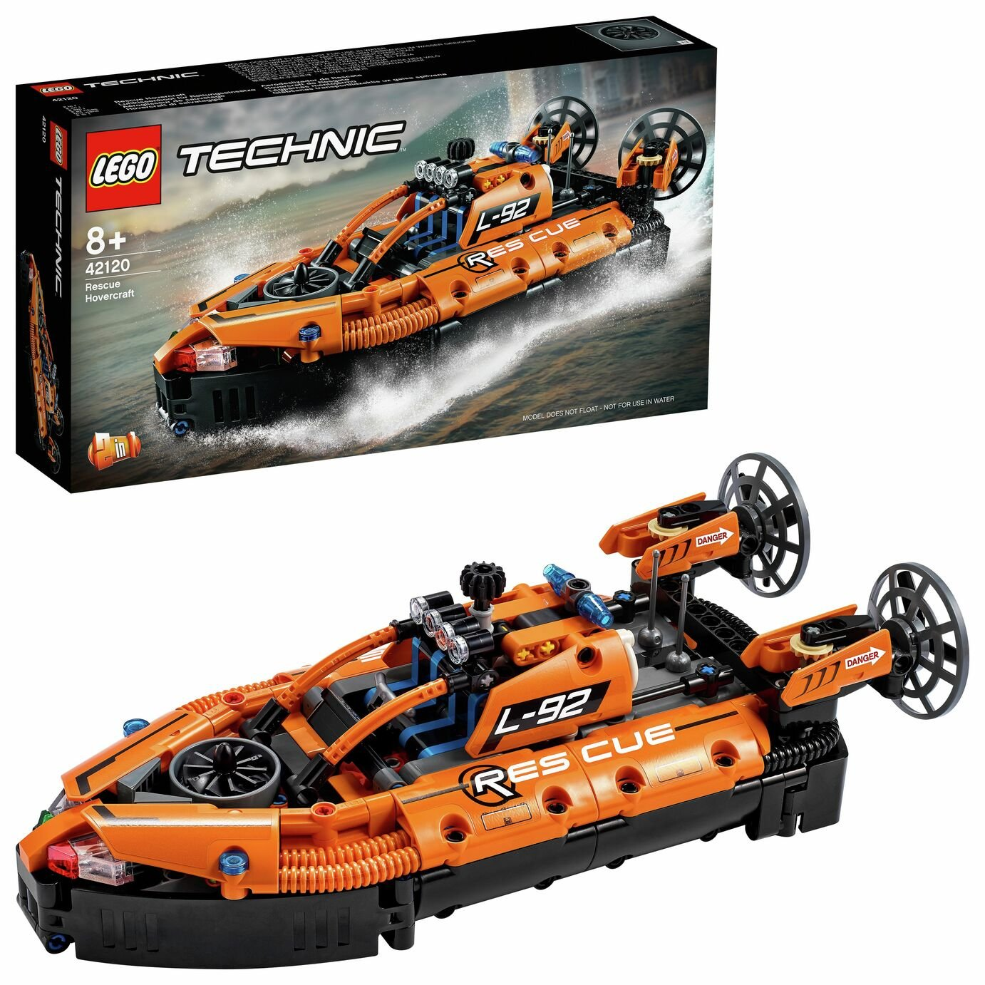 LEGO Technic Rescue Hovercraft and Plane 2 in 1 Set 42120