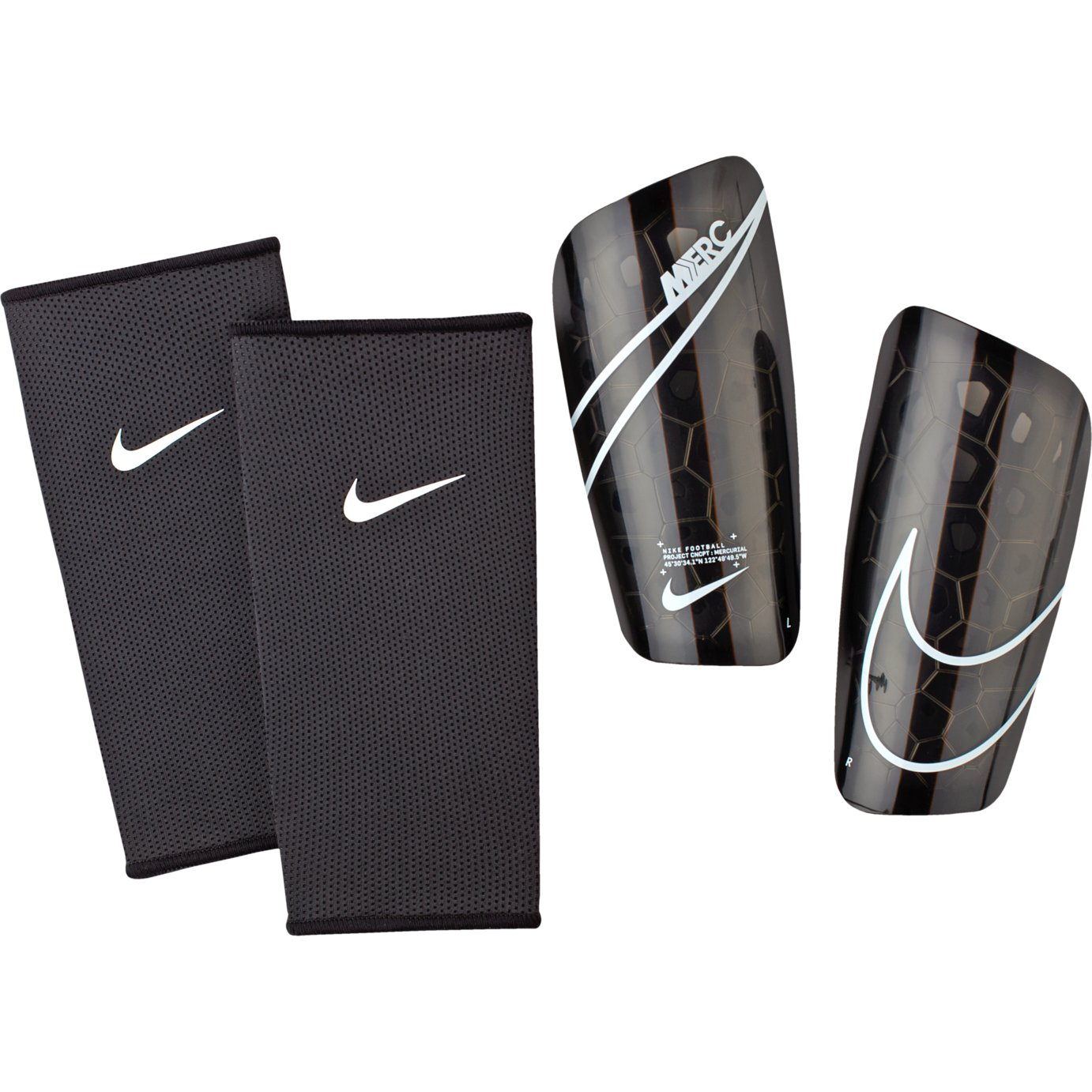 Nike Mercurial Lite Slip In Adult Shin Pads - Black