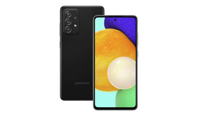 SIM Free Samsung Galaxy A52 5G 128GB Mobile Phone - Black