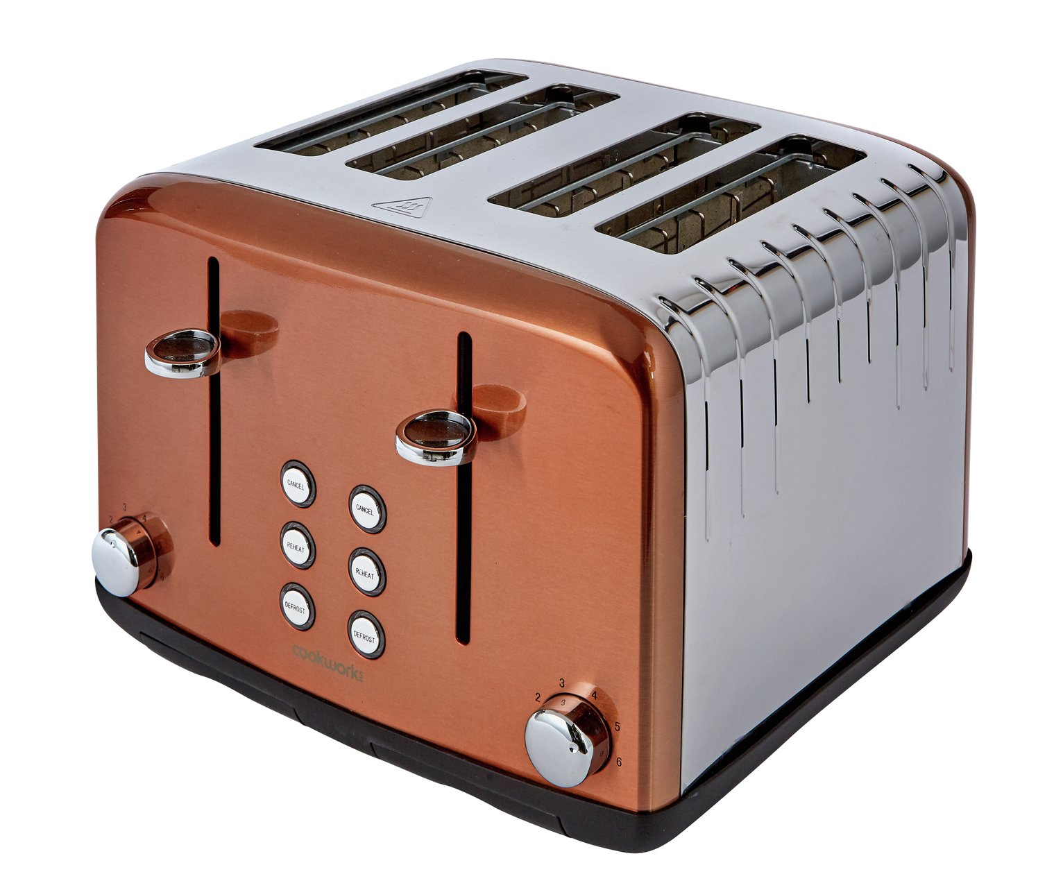 Cookworks Pyramid 4 Slice Toaster - Copper