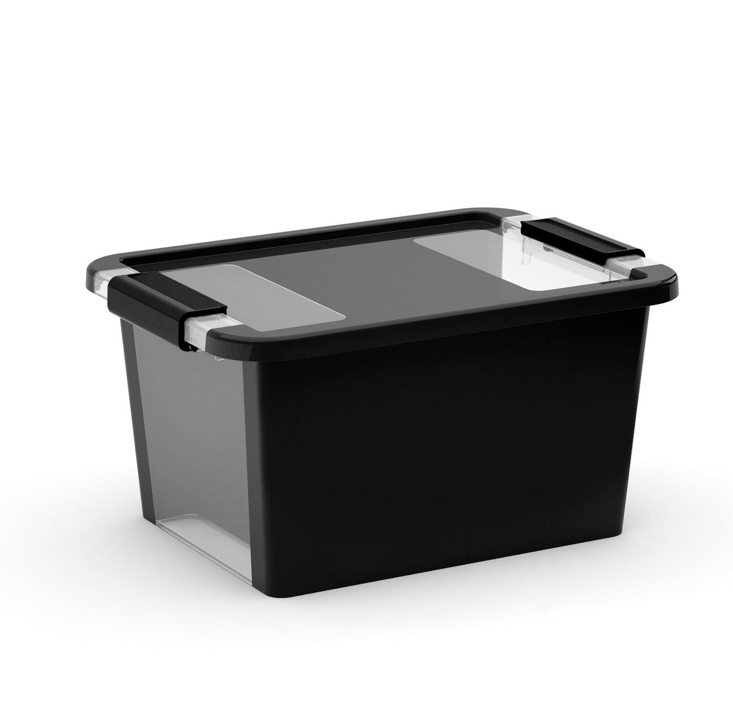 Curver Bi-Box Set of 3 11L Storage Boxes - Black