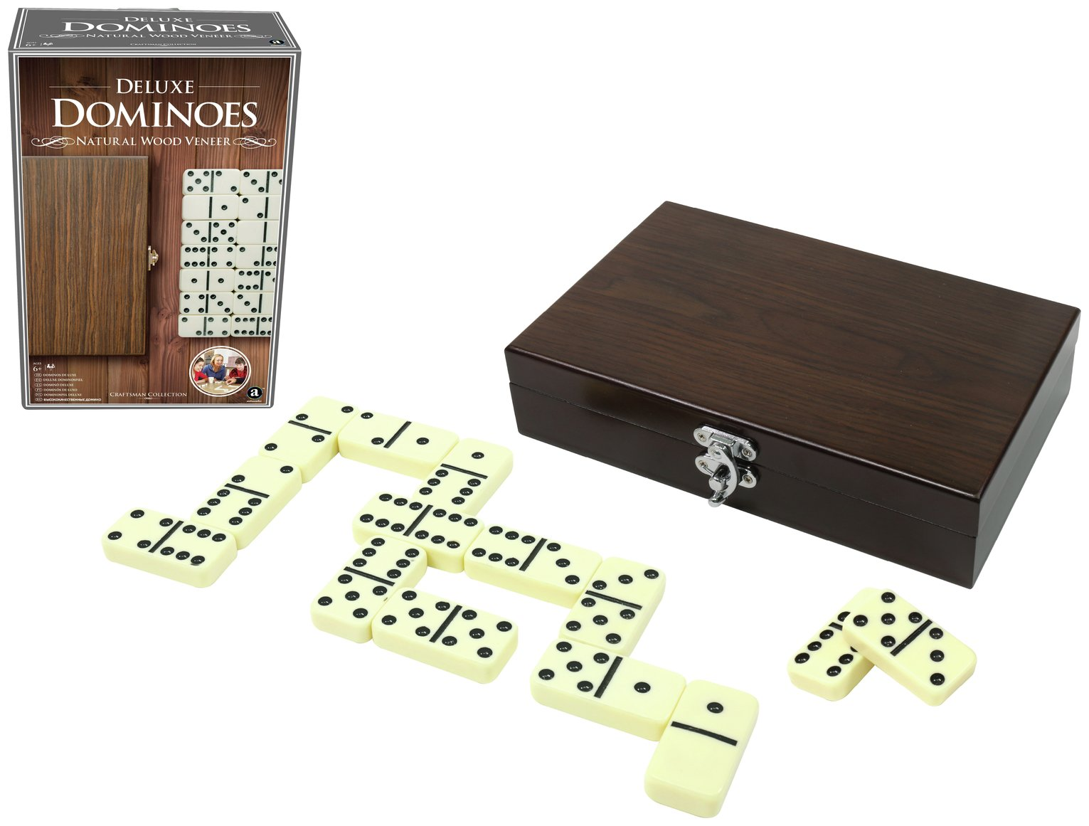 Craftsman Wood Veneer Deluxe Dominoes