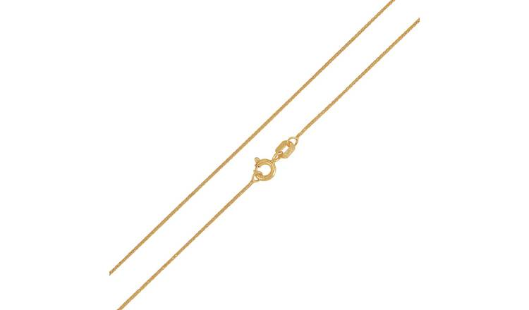 Revere 9ct Gold Spiga 18 Inch Chain