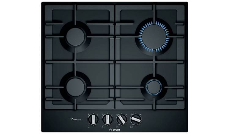 Bosch PCP6A6B90 Cast Iron Support Gas Hob - Black