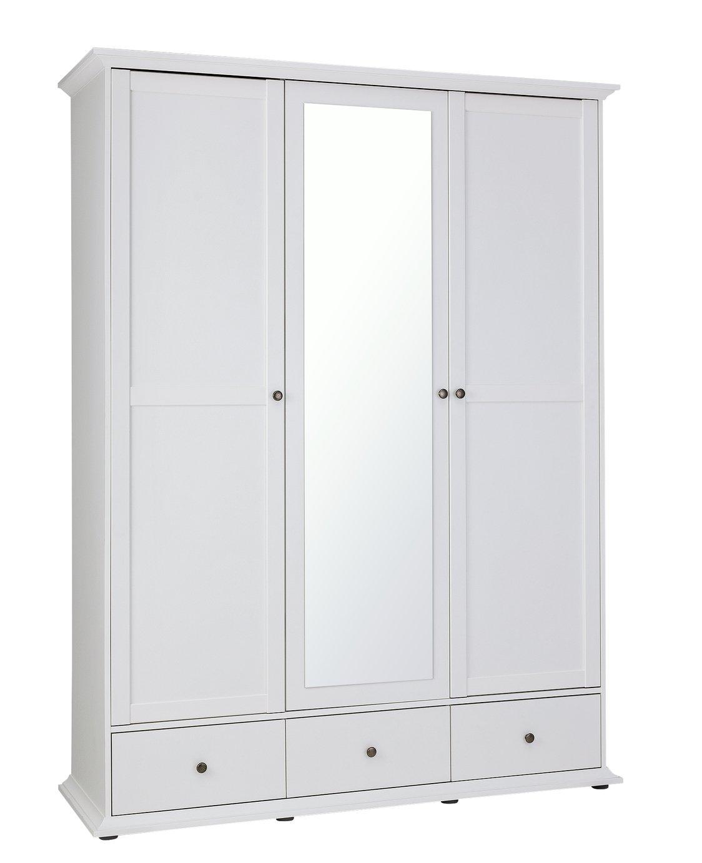 Parisot Heathland 3 Door 3 Drawer Mirrored Wardrobe