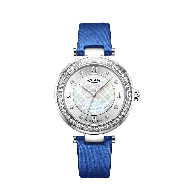 Rotary Ladies Royal Blue Satin Strap Watch