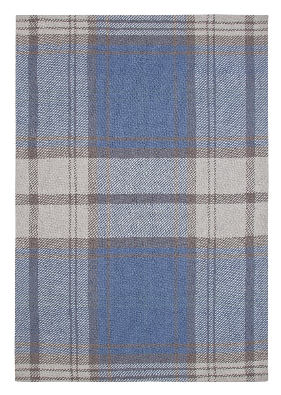 Argos Home Classic Wool Checked Rug - 120x160cm - Duck Egg