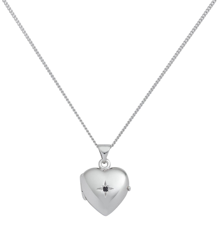 Revere Sterling Silver Heart Birthstone Pendant - September