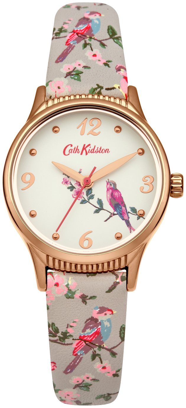 Cath Kidston Ladies Grey Faux Leather Strap