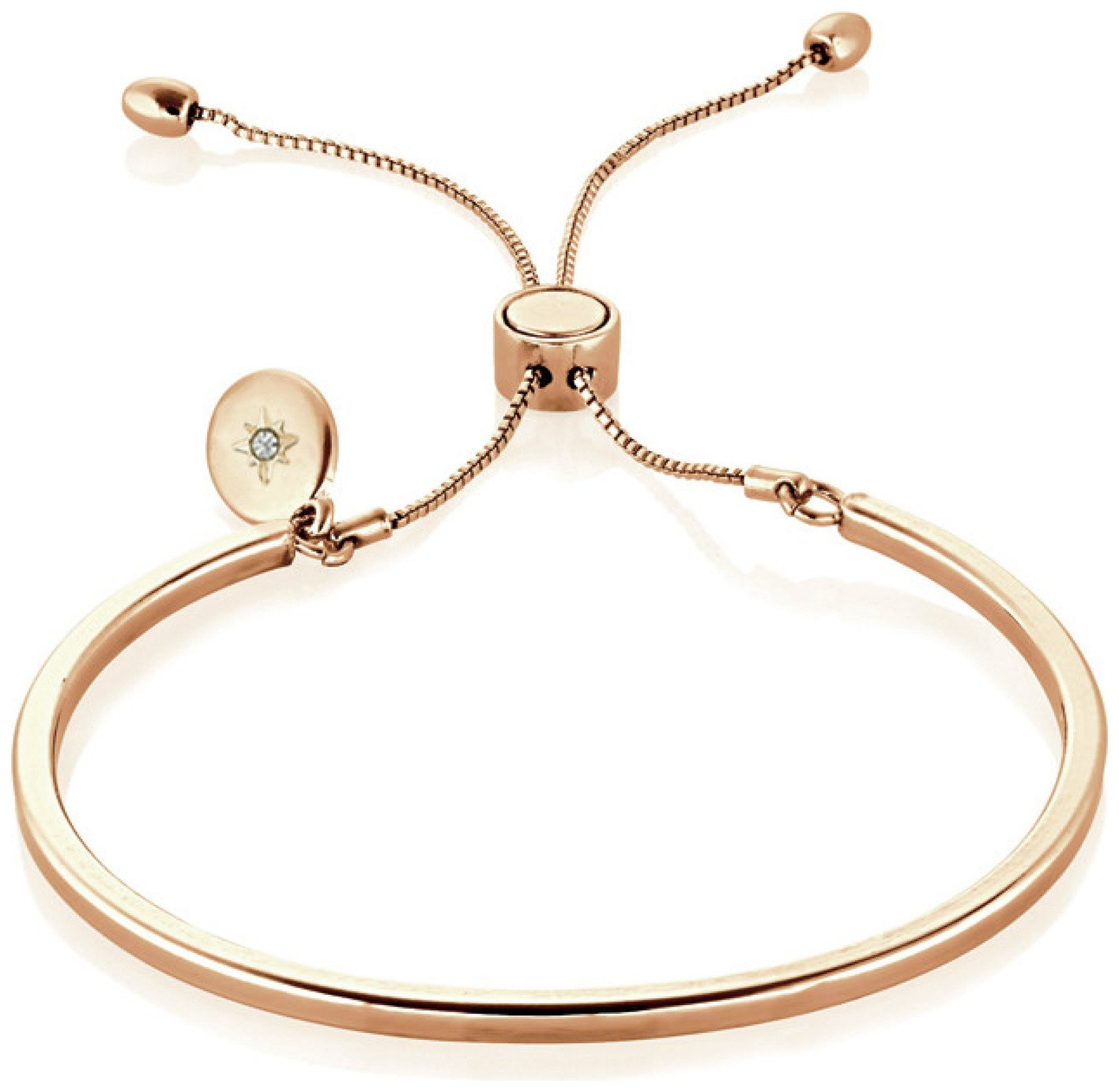 Buckley London Piccadilly Rose Coloured Bangle