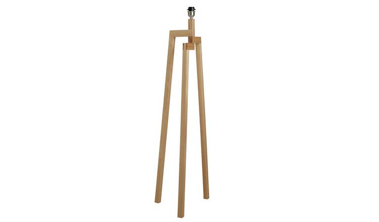 Habitat Dylan Wooden Floor Lamp Base Only - Ash