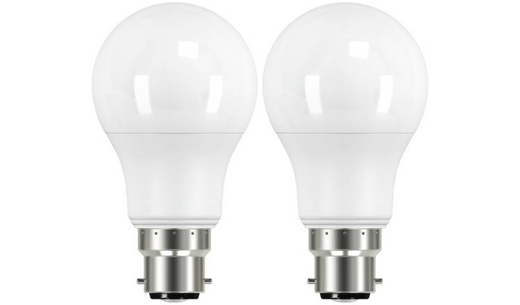 Argos Home 8W LED BC Dimmable Light Bulb - 2 Pack