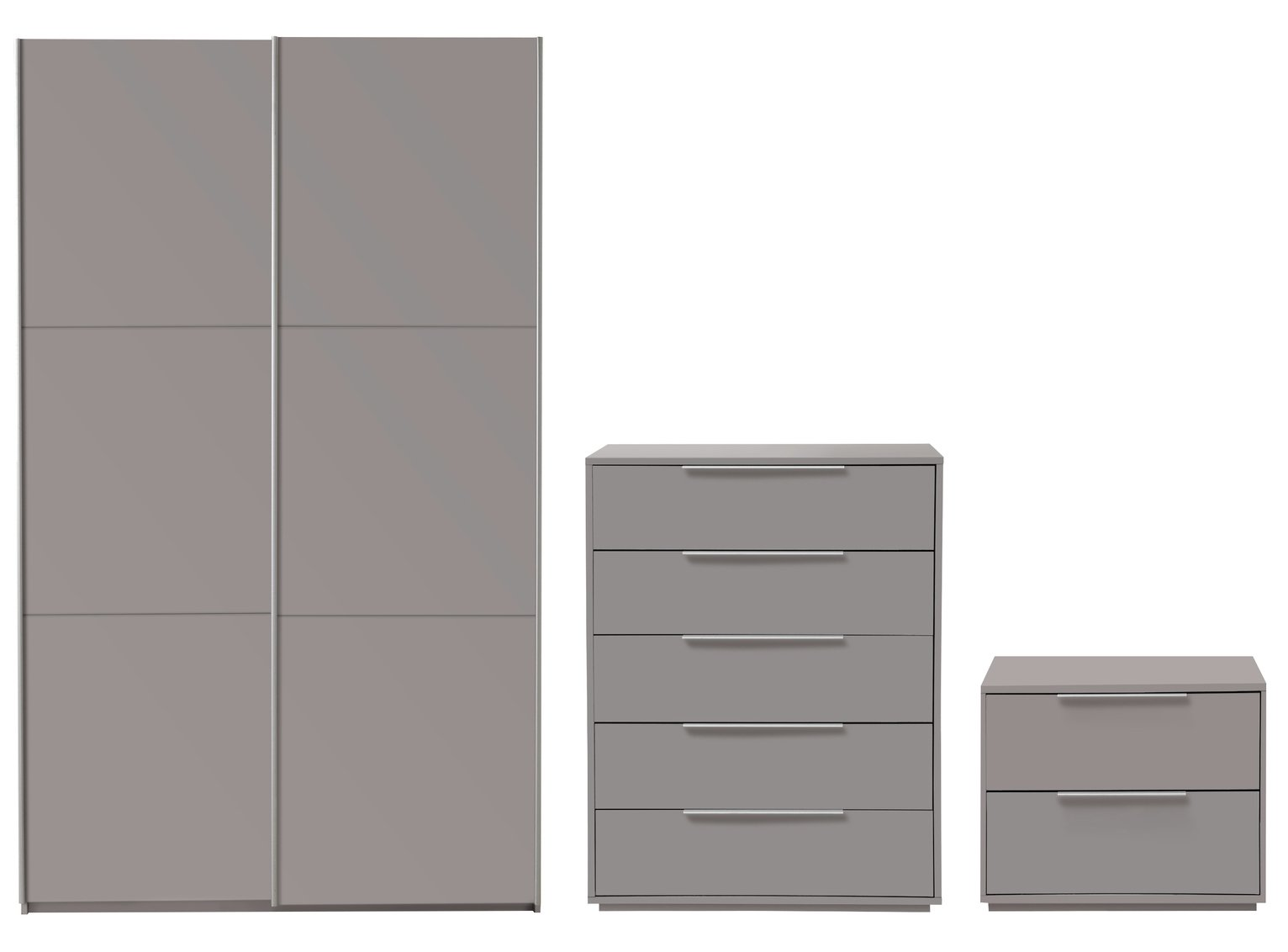 Argos Home Holsted Medium Grey Gloss 3 Piece Package review