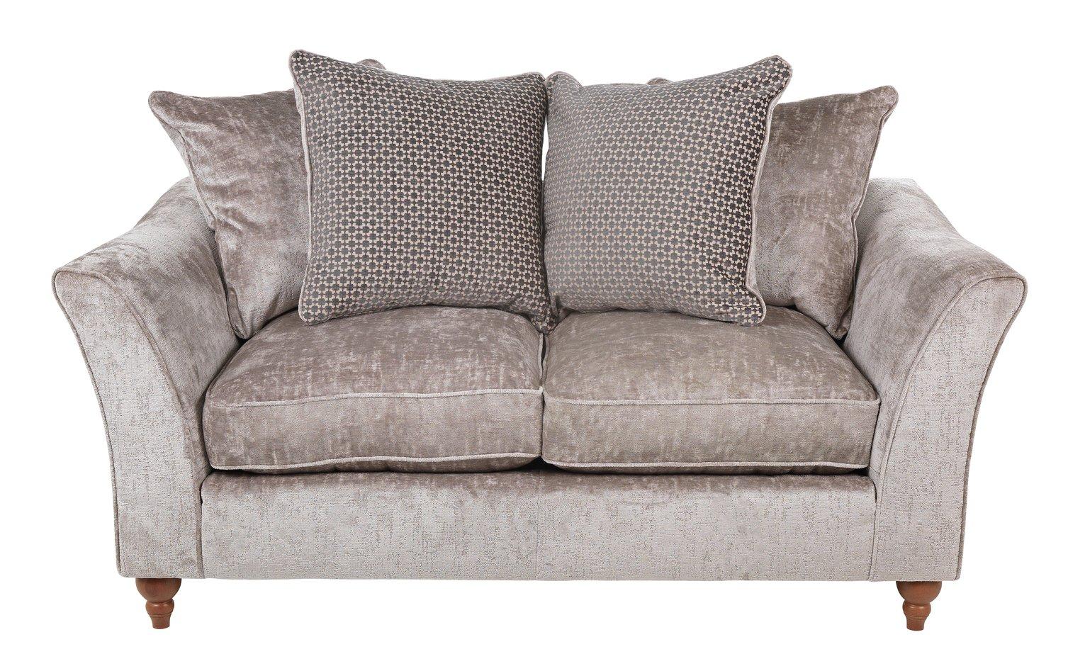 Argos Home Buxton Fabric 2 Seater Sofa - Truffle