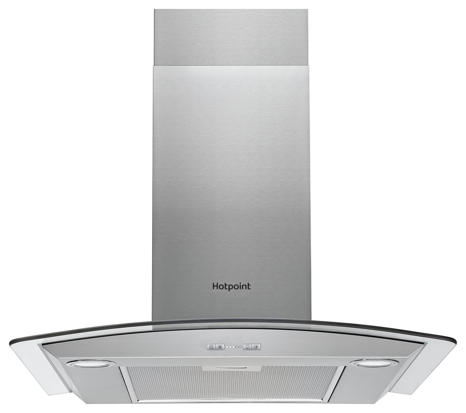 Hotpoint PHGC6.4 FLMX 60cm Cooker Hood - Stainless Steel
