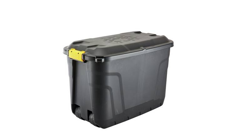 Strata 110 Litre Heavy Duty Wheeled Plastic Storage Trunk
