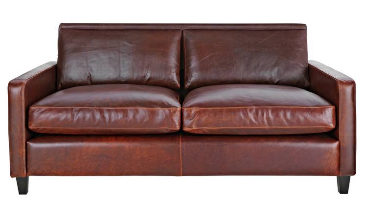 Habitat Chester 2 Seater Leather Sofa - Tan