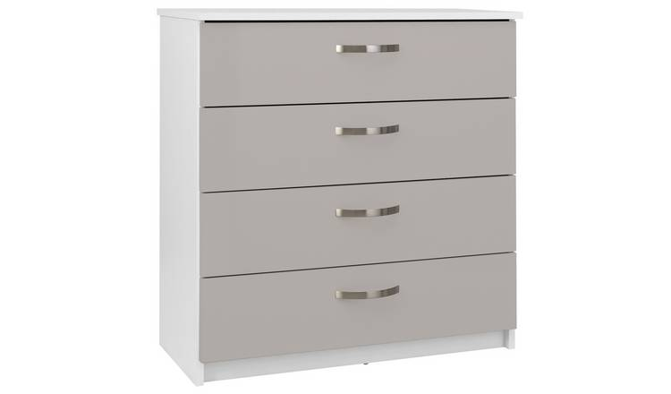 Argos Home Cheval Gloss 4 Drawer Chest of Drawers - Grey