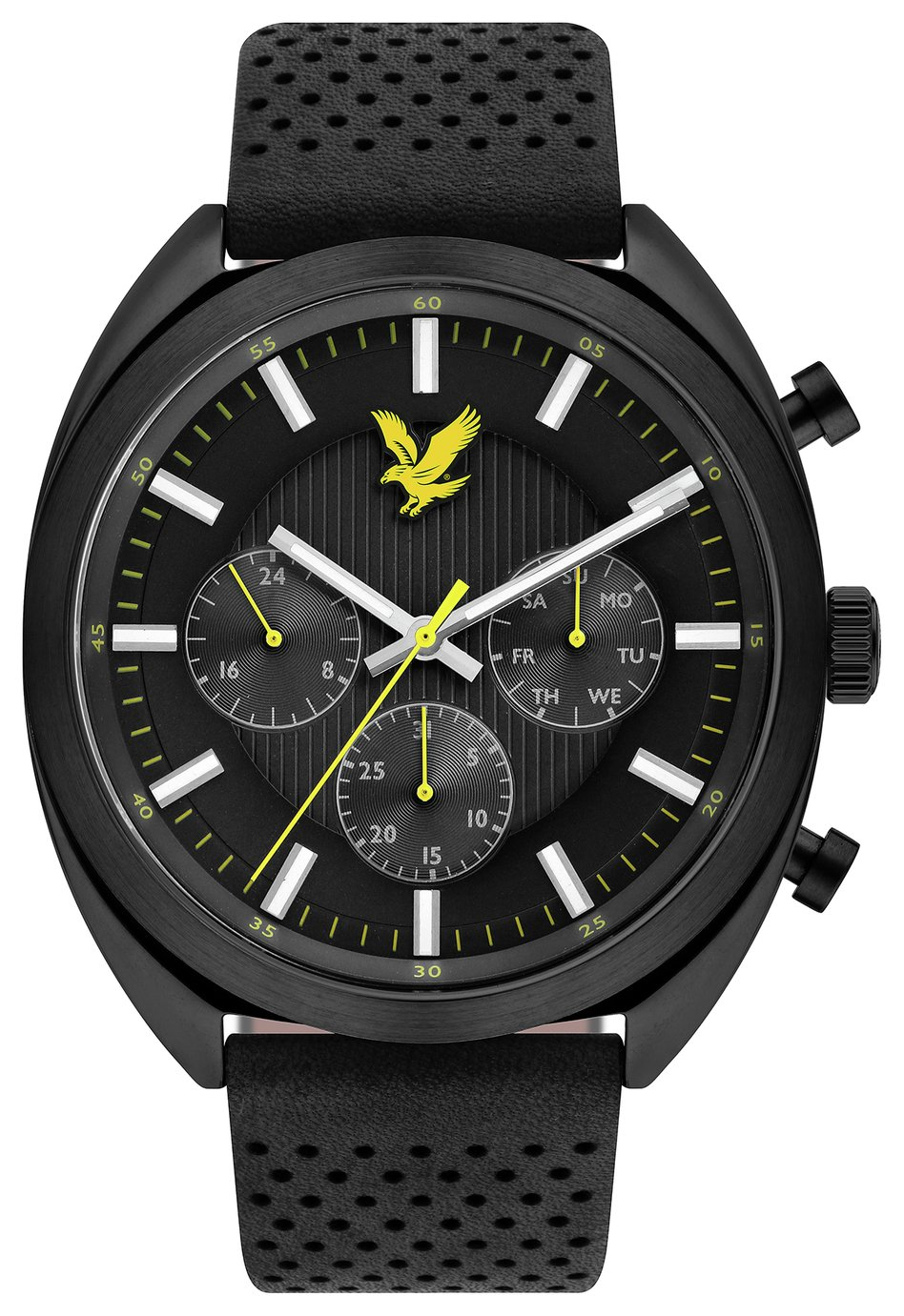 Lyle and Scott Men's Black Leather Strap Watch