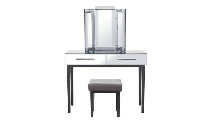 Argos Home Palm Luxe 2 Drawer Dressing Table Set - Mirrored