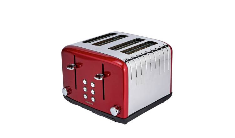 Cookworks Pyramid 4 Slice Toaster - Red