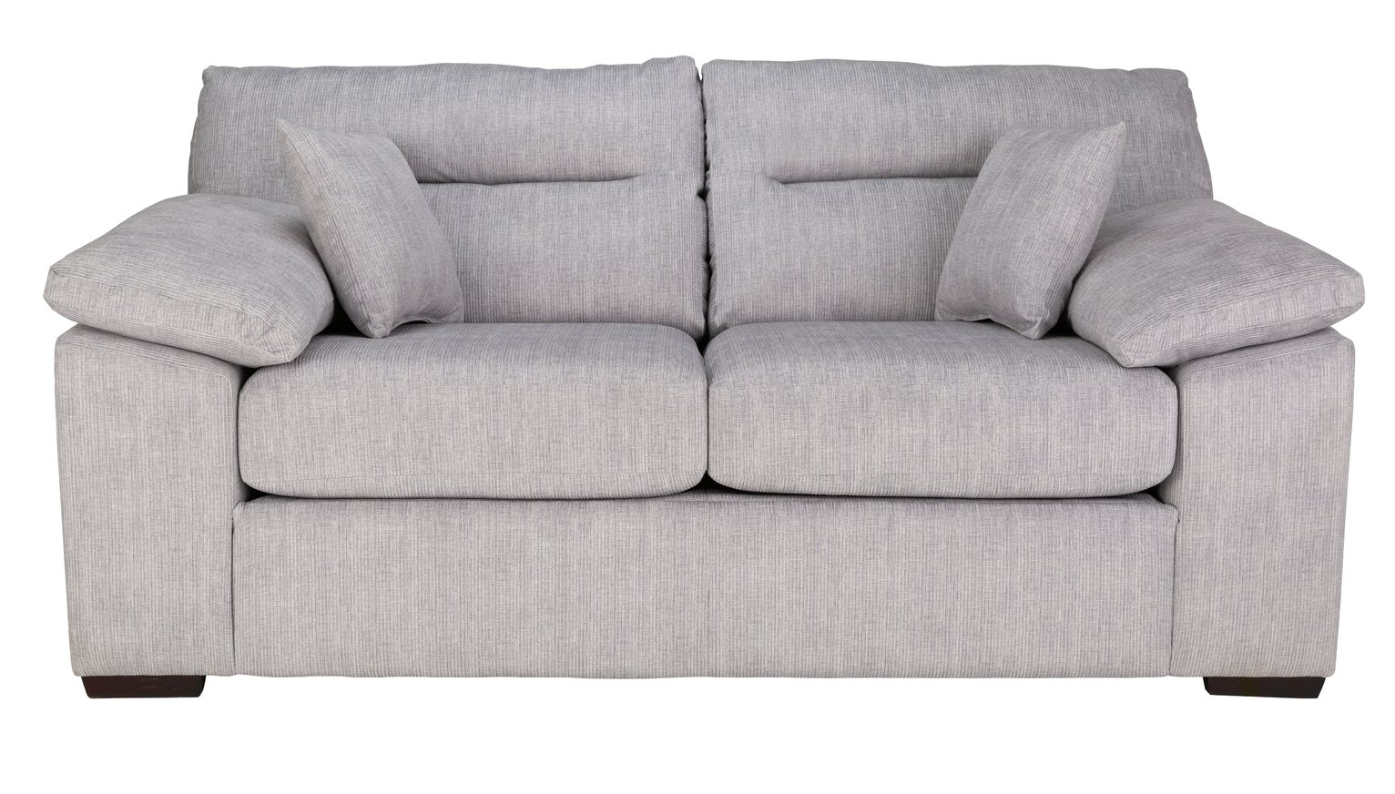 Argos Home Donavan 2 Seater Fabric Sofa Bed - Silver
