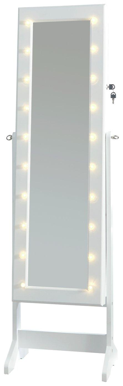 GFW Amore LED Storage Mirror - White