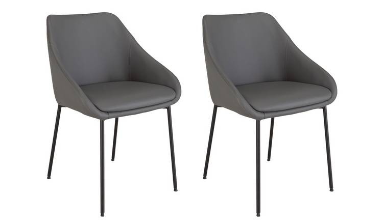 Groovy Buy Argos Home Kanso Pair Of Faux Leather Dining Chairs Grey Dining Chairs Argos Unemploymentrelief Wooden Chair Designs For Living Room Unemploymentrelieforg