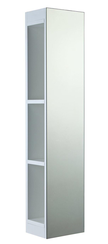 Argos Home Full Length Open Sided Mirrored Cabinet - White