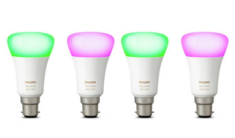 Philips Hue B22 Colour Smart Bulb - 4 Pack