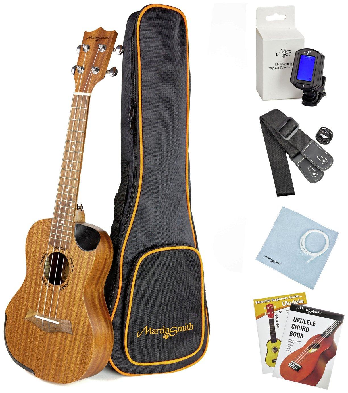 Martin Smith Premium Soprano Ukulele Kit With Tuner and Bag