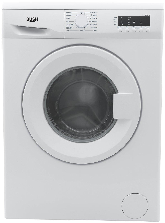 Bush WMSAE612W 6KG 1200 Spin Washing Machine - White