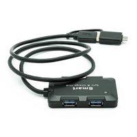 Dynamode USB-C 4 Port USB3 Hub - Dual Input