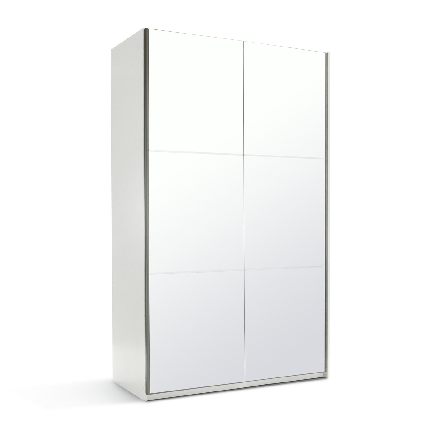 Argos Home Holsted Mirrored Small Wardrobe - White