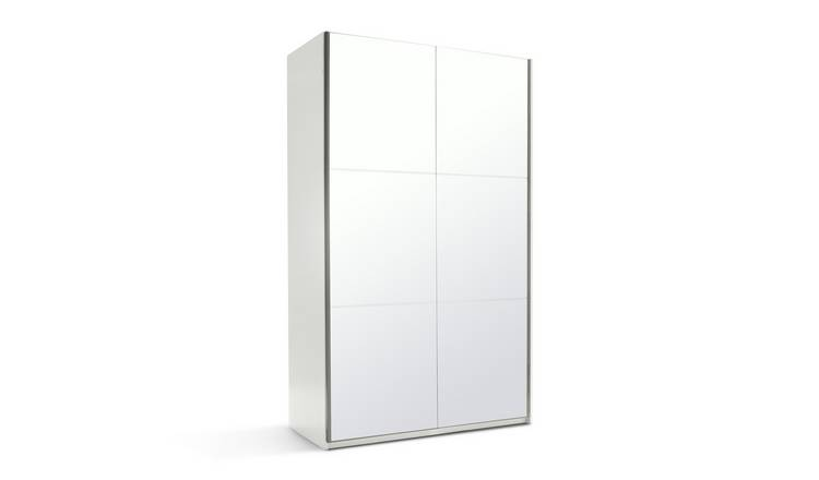 Habitat Holsted Mirrored Small Wardrobe - White