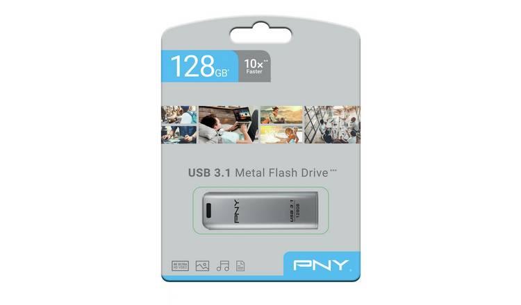 Buy PNY Elite Steel USB 3.1 Flash Drive - 128GB | USB ...