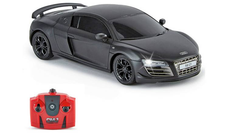 Audi R8 1:24 Radio Controlled Sports Car - Matte Black