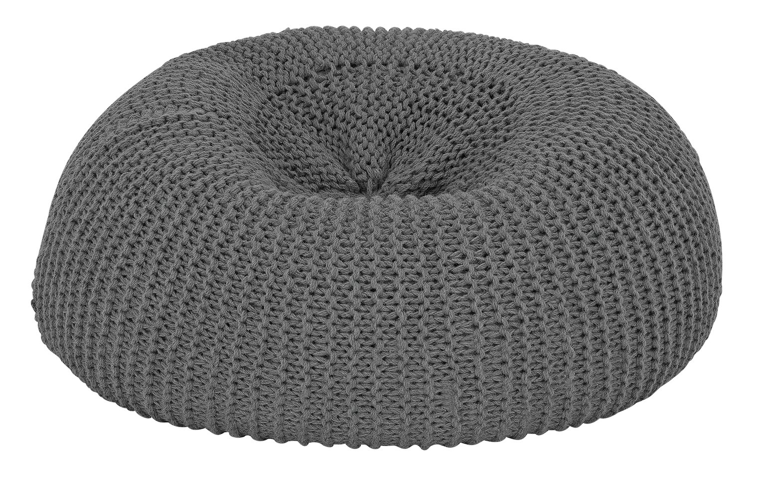 Argos Home Large Wool Beanbag - Charcoal
