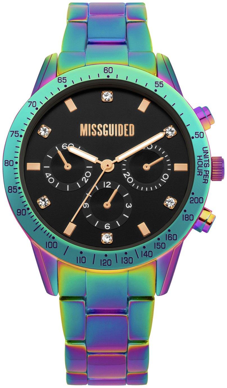 Missguided Iridescent Multicoloured Bracelet Watch