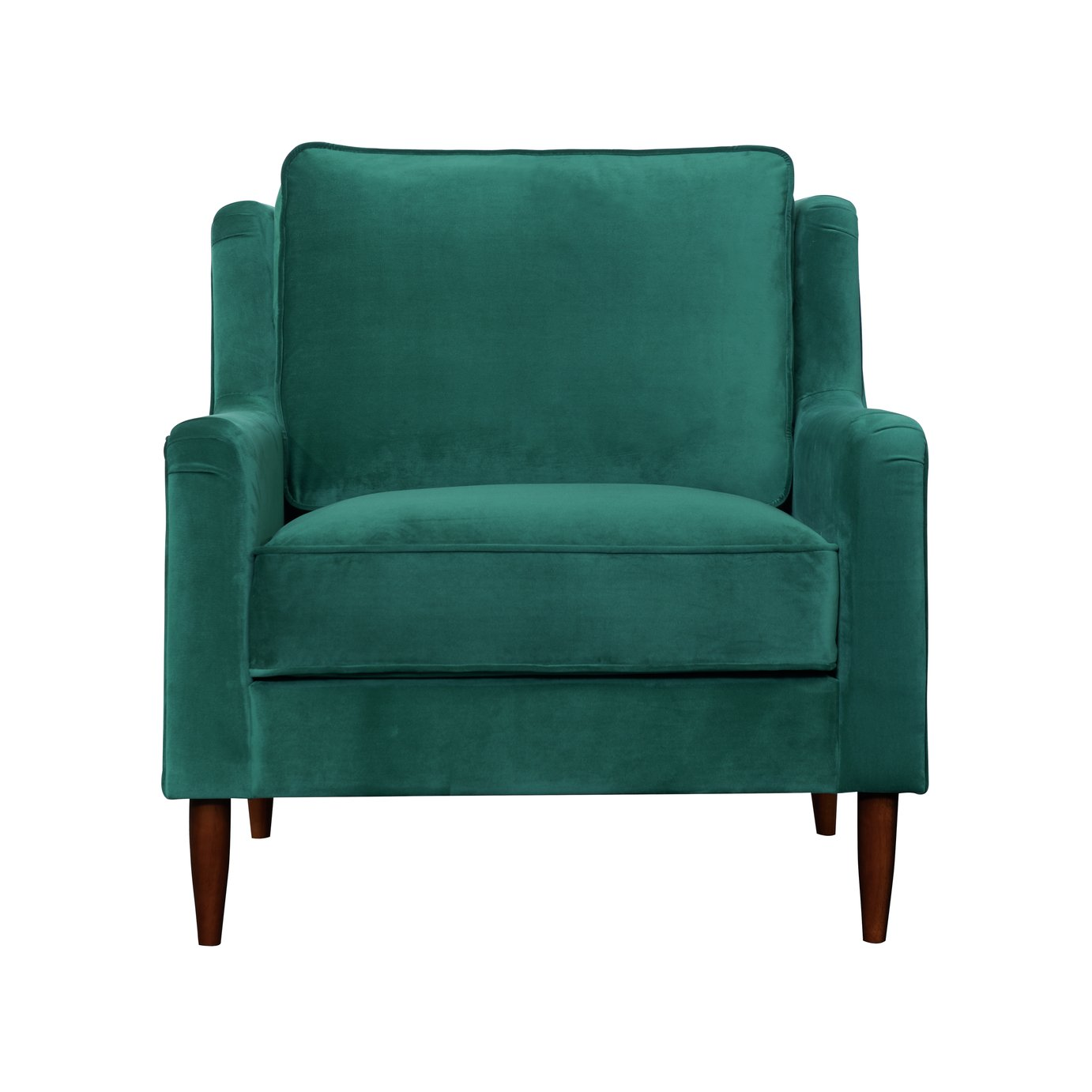 Argos Home Jacob Velvet Armchair - Green