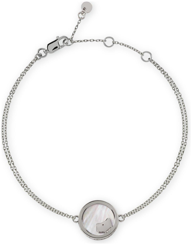 Radley London Stirling Silver Stone-Set Pearl Bracelet