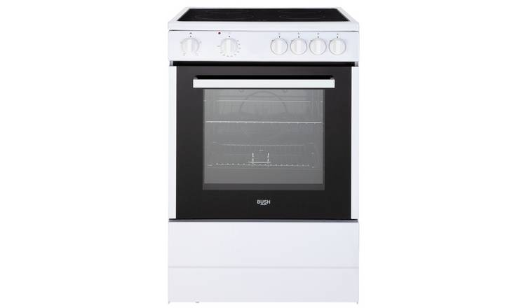 Bush B60SCWX 60cm Single Electric Cooker - White