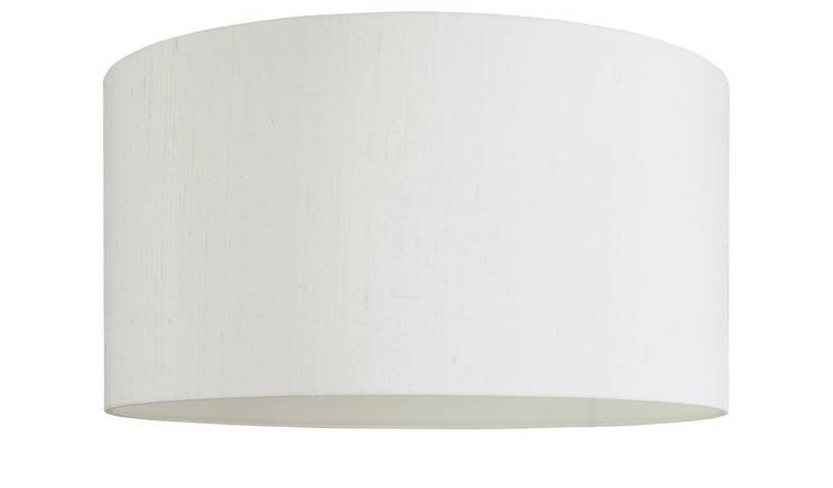 Habitat Drum Silk 58cm Shade - White