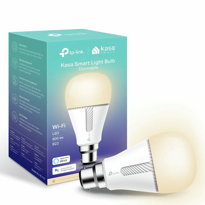 TP-Link KL110B Kasa Smart B22 Wi-Fi Dimmable White Bulb