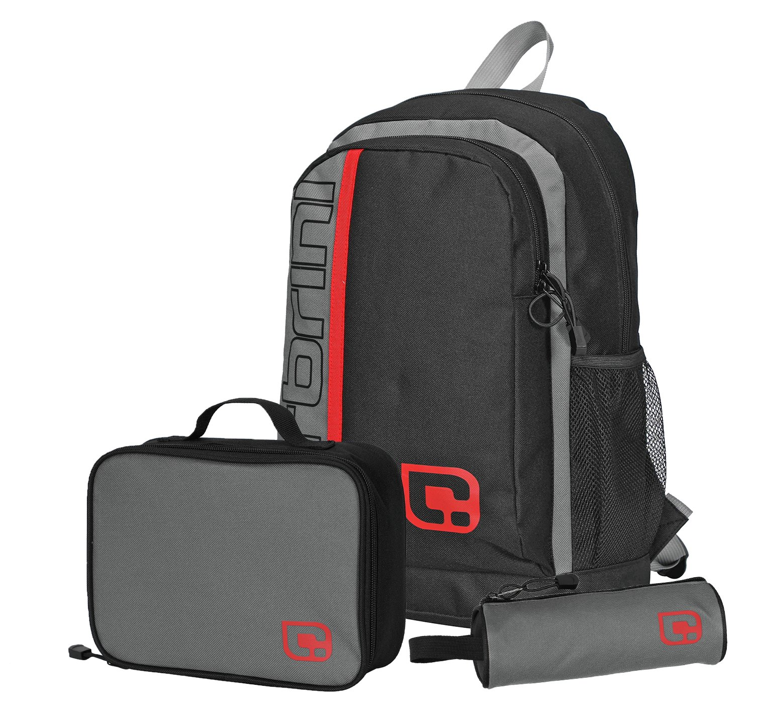 Carbrini Hacker 3 in 1 19L Backpack - Black and Grey